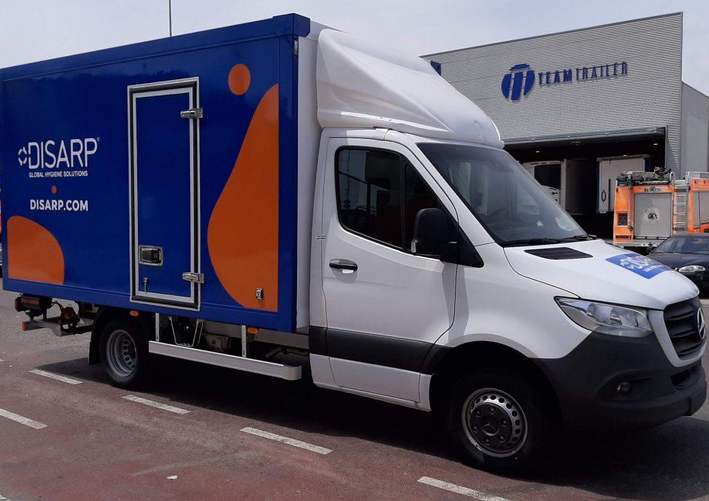Rotulación para camion Valencia Toldos Cato